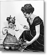 Mother Scolding Tearful Child Metal Print