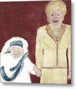 Mother Teresa And Princess Diana In Heaven 3 Metal Print