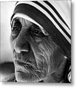 Mother Teresa Close Up Metal Print by Retro Images Archive