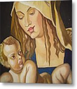 Mother With Her Child Metal Print