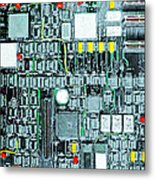 Motherboard Abstract 20130716 Square Metal Print