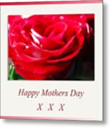 Mothers Day A Red Rose Metal Print