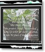Mother's Day Greeting And Angel Metal Print