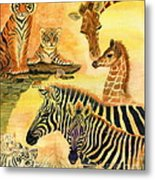 Mother's Day In The Wild Kingdom Metal Print