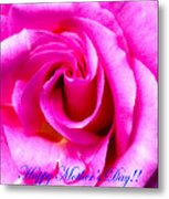 Mother's Day Rose Metal Print