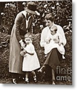 Mothers With Children Metal Print