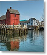 Motif #1 And The Pirate Ship Formidable Metal Print