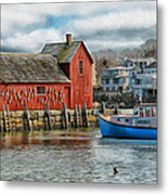 Motif #1 Watches Over The Amie V2 Metal Print