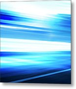 Motion Blue Road Metal Print