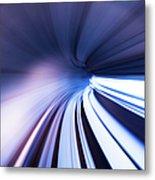 Motion Tunnel Metal Print