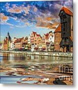 Gdansk Motlawa River- Poland Metal Print