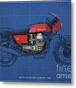 Moto Guzzi 850 Le Mans 1976 Metal Print