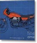 Moto Guzzi Le Mans IIi 1981 Vintage Style Metal Print