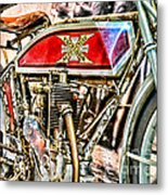 Motorcycle - 1914 Excelsior Auto Cycle Metal Print