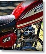 Motorcycle - 1974 Honda Cl 125 Scrambler Metal Print