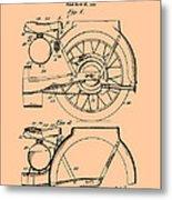 Motorcycle Patent 1925 Metal Print
