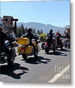 Motorcycle Row Metal Print