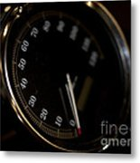 Motorcycle Speedometer Metal Print
