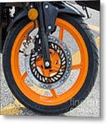 Motorcycle Wheel Metal Print