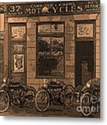 Motorcycles And Furnished Rooms Metal Print