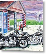 Motorcycles Metal Print by Chris Dreher
