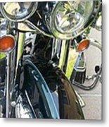 Motorcyle Classic Headlight Metal Print