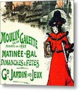 Moulin De La Galette Metal Print