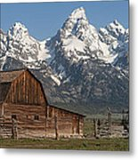 Moulton Barn - Grand Tetons I Metal Print
