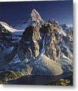 Mount Assiniboine And Sunburst Lake Metal Print