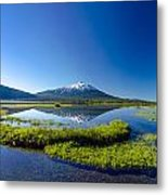 Mount Bachelor And Sparks Lake Metal Print