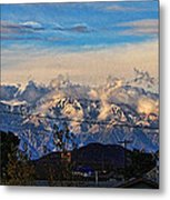 Mount Baldy On A New Years Eve Metal Print