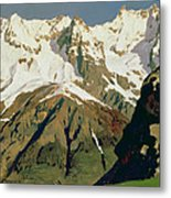 Mount Blanc Mountains Metal Print