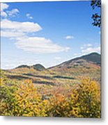 Mount Blue State Park In Fall Weld Maine Metal Print