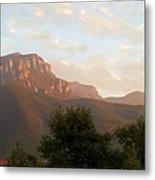 Mount Boney Sunset In Oils Metal Print