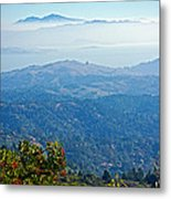 Mount Diablo From Mount Tamalpias-california Metal Print