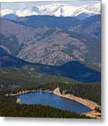 Mount Evans And Echo Lake Metal Print