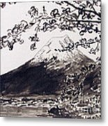Mount Fuji Spring Blossoms Metal Print by Kevin Croitz