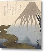 Mount Fuji Under The Snow Metal Print by Toyota Hokkei