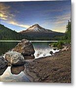 Mount Hood At Trillium Lake Sunset Metal Print
