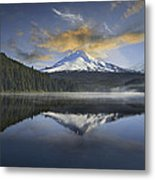Mount Hood At Trillium One Early Morning Metal Print