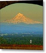 Mount Hood Framed Metal Print by DerekTXFactor Creative