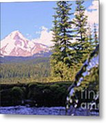 Mount Hood From Buzzard Point Metal Print by Cari Gesch