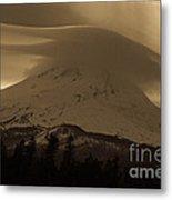 Mount Hood In The Clouds Metal Print