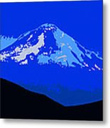 Mount Hood Panoramic Metal Print