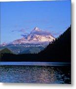 Mount Hoods Looms Over Lost Lake  Hood Metal Print