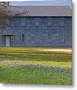 Mount Horeb Masonic Lodge 137 With Bluebonnets Metal Print