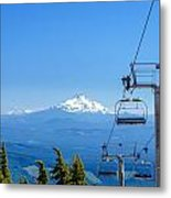 Mount Jefferson And Chairlifts Metal Print