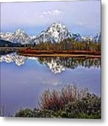 Mount Moran And Jackson Lake Metal Print