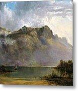 Mount Olympus. Lake St Clair. Tasmania The Source Of The Derwent Metal Print