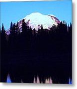 Mount Rainer At Tipsoe Lake In The Sunrise Metal Print
